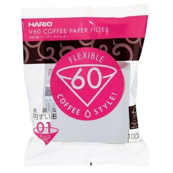 Hario V60-01 filterpapír fehér 100 db