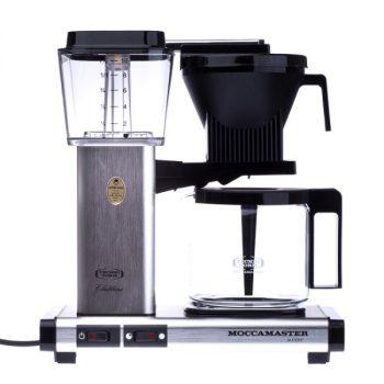 Moccamaster KBGT 741 termoszos filteres kávéfőző - fekete/fehér/fém