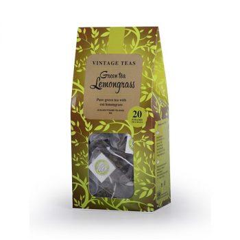 Vintage Teas zöld tea citromfűvel 20 db piramis filter 50 g