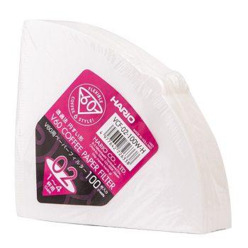Hario V60-02 filterpapír fehér 100 db - EU gyártás