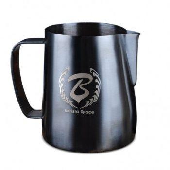 Barista Space 350 / 600 ml tejkiöntő kanna - Fekete