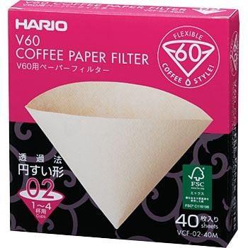 Hario V60-02 filterpapír fehér 40 db