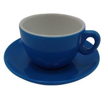Inkerpor Cappuccino csésze+tányér 170 ml kék/sárga/menta/piros/rózsaszín/narancs