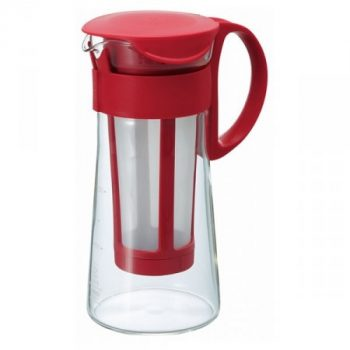 Hario Mizudashi Coffee Pot Mini - hidegen áztatott kávé / cold brew / készítő 600 ml barna/piros