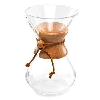 Klasszikus Chemex kávékészítő üvegedény 10 csészés