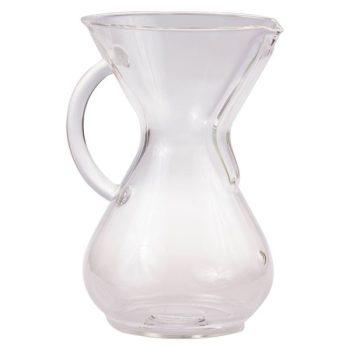 Chemex 6 csészés kávékészítő üvegedény füllel