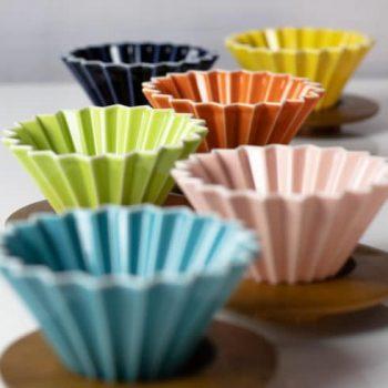 Origami kerámia csepegtető M - fehér/narancs/rózsaszínű/piros/sárga/zöld