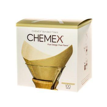 Chemex natúr négyzet alakú filter papír 6/8/10 csészés 100 db
