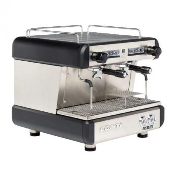 CONTI Compact Tall Cup 2 Group Espresso Machine fekete