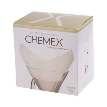 Chemex fehér négyzet alakú filter papír 6/8/10 csészés 100 db