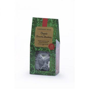 Vintage Teas Organic zöld tea epres 20 db piramis filter 40 g