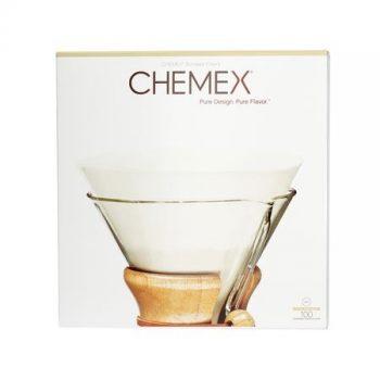 Chemex kör alakú fehér nem hajtogatott filter 6/8/10 csészés