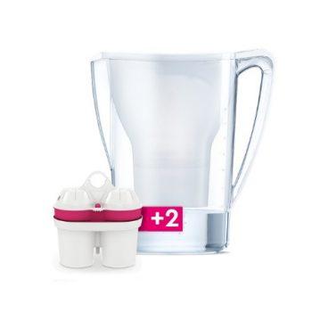 BWT Mg2+ Longlife 2.7 L asztali vízszűrő kancsó hozzáadott magnéziummal - fehér/kék/rózsaszín