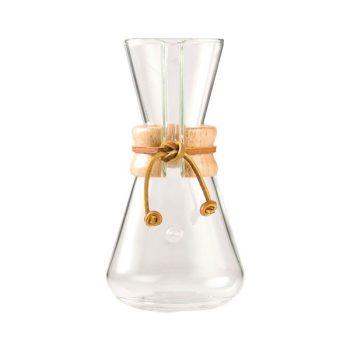 Klasszikus Chemex kávékészítő üvegedény 3 csészés