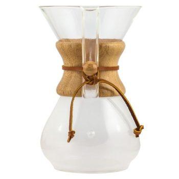 Klasszikus Chemex kávékészítő üvegedény 6 csészés
