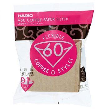 Hario V60-01 Misarashi flex filterpapir natúr 100 db