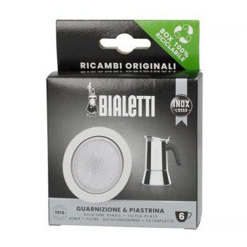 Bialetti tömítés 3 db + szűrő 4 személyes Brikka kávéfőzőhöz