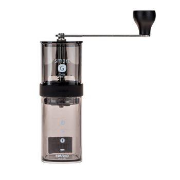 Hario Smart G átlátszó fekete kézi kávédaráló