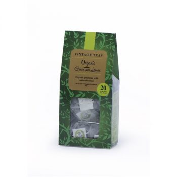 Vintage Teas Organic zöld tea citromos 20 db piramis filter 40 g